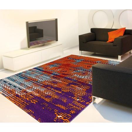Wevron Orange Rug