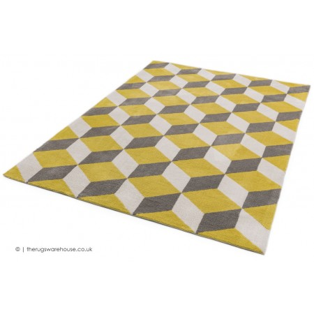 Arlo Blocks Yellow Rug