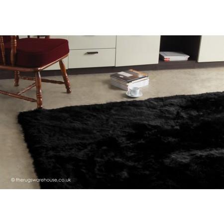 Longwool Black Rug