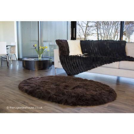 Longwool Choco Oval Rug