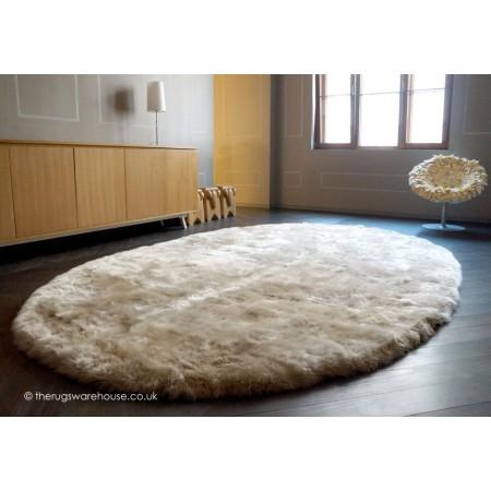 Longwool Ivory Oval Rug