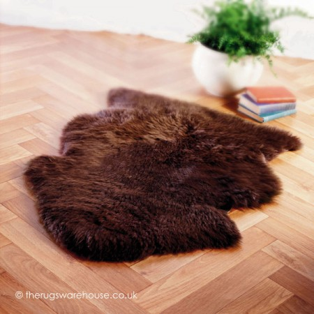 Chocolate Sheepskin Rug