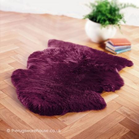 Grape Sheepskin Rug