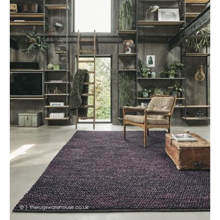 Cobble Pinstripe Purple Rug