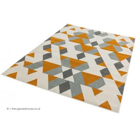 Pyramids Rust Rug