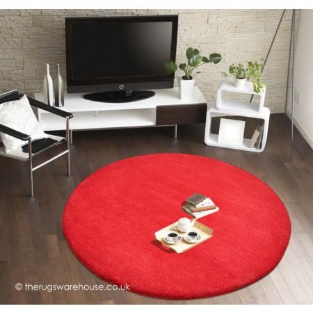 Comfort Red Circle Rug