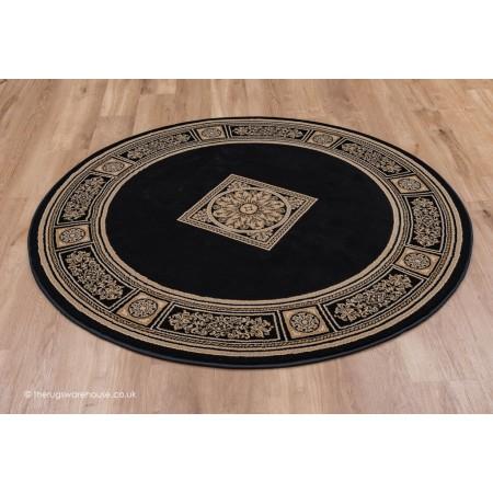 Piero Black Circle Rug