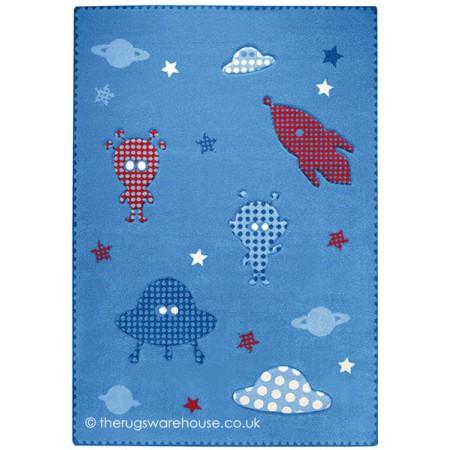 Astronaut Blue Rug
