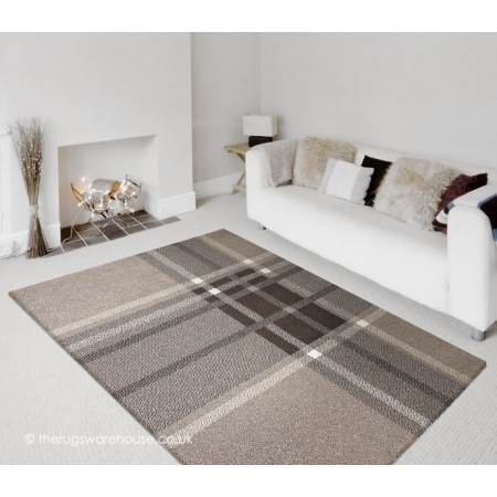 Linear Brown Rug