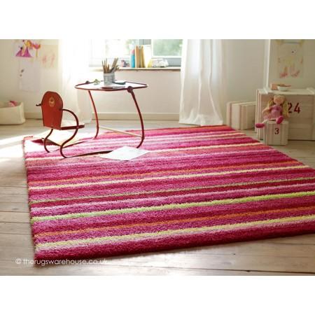 Funny Stripes Pink Rug