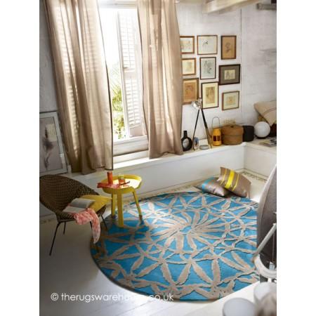 Oriental Lounge Blue Rug