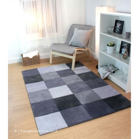Squared Grey Rug