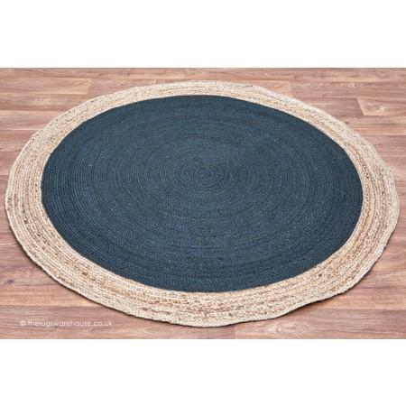 Faro Charcoal Circle Rug