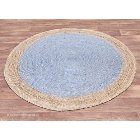 Faro Silver Circle Rug