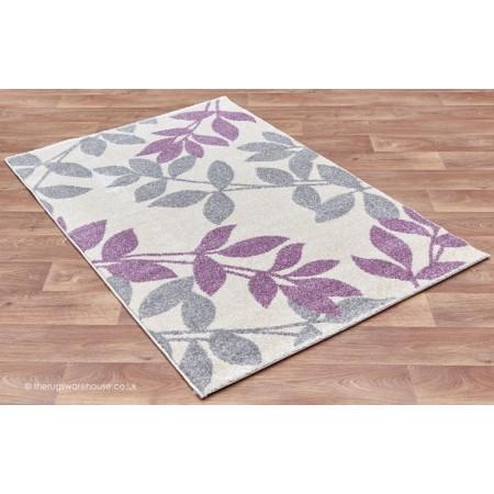 Focus Leaves Purple Rug