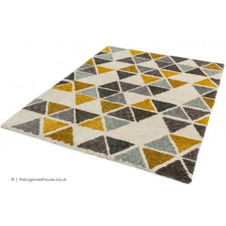Gala Yellow Triangles Rug
