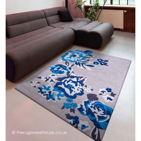 Flora Blue Rug