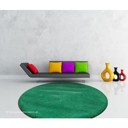 Comfort Green Circle Rug