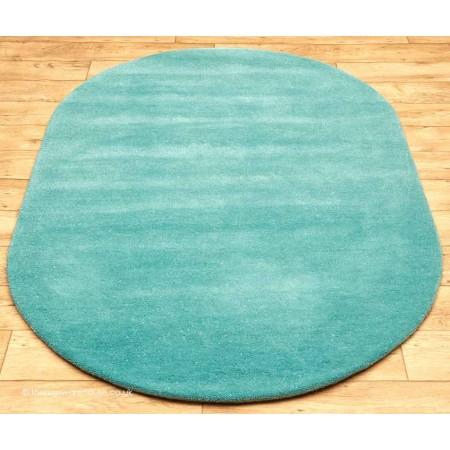 Comfort Aqua Oval Rug