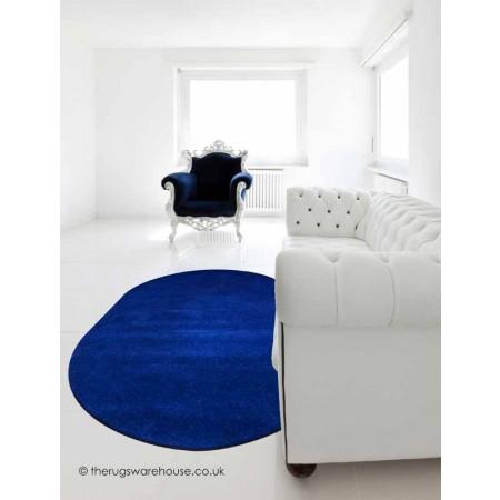 Comfort Navy Oval Rug