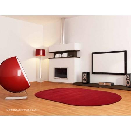 Comfort Scarlet Oval Rug