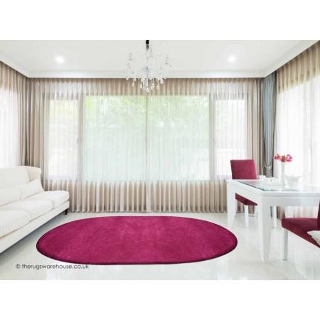 Comfort Violet Oval Rug