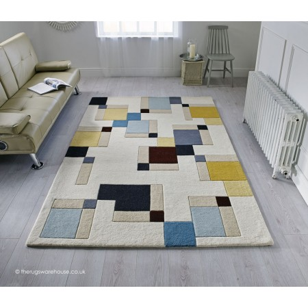 Abstract Blocks Rug