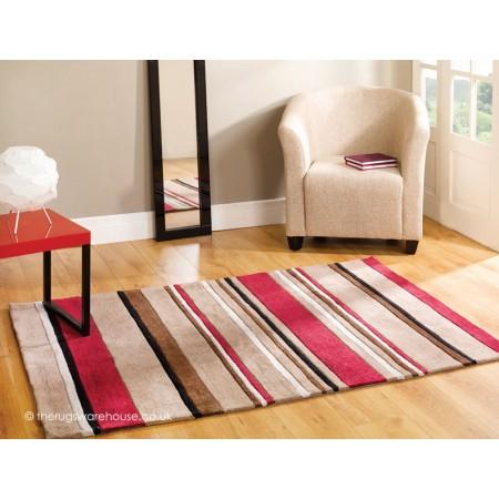 Red Broad Stripe Rug