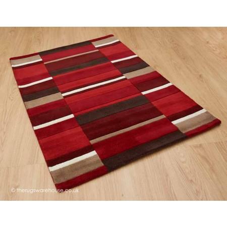 Red Blocks Rug