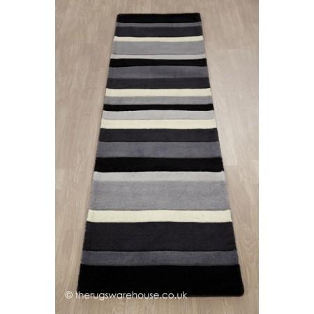 Charcoal Stripes Runner
