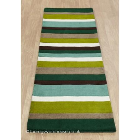 Green Stripes Runner