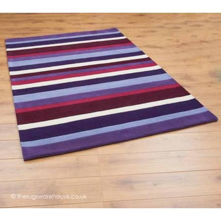 Purple Stripes Rugs