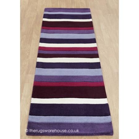 Purple Stripes Runner