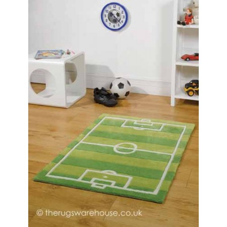 Soccer Pitch Rug