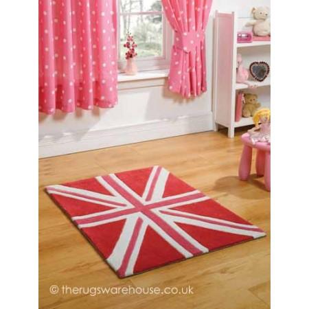 Union Flag Pink Rug
