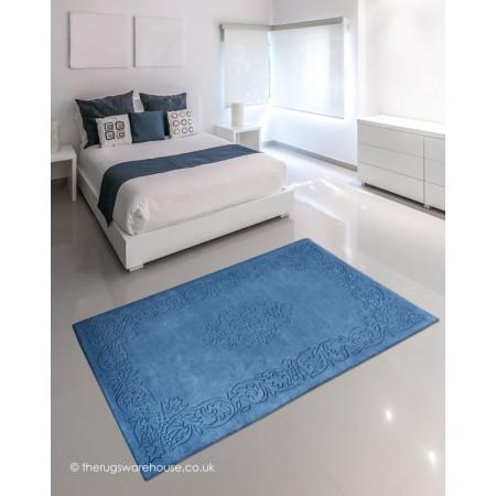 Kolam Blue Rug