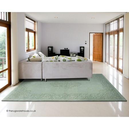 Kolam Green Rug