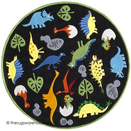 Little Dinos Circle Rug