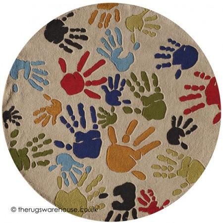 Hand Paint Circle Rug