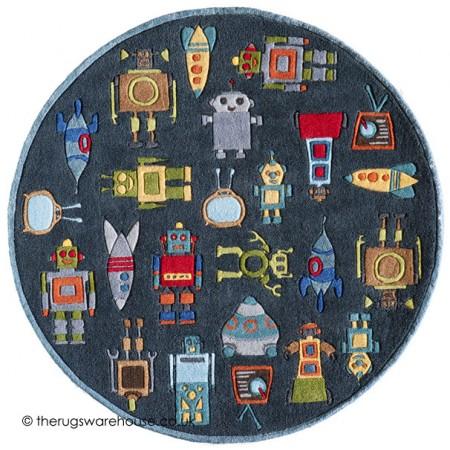 Robots Circle Rug