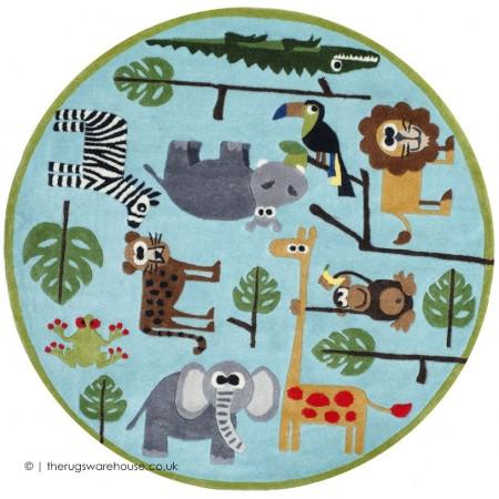 Animals Circle Rug