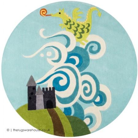 Dragon Castle Circle Rug