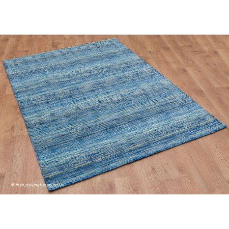 Loomed Gabbeh Blue Rug