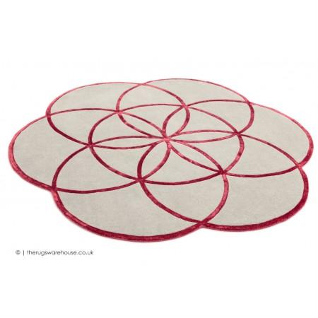 Lotus Flower Red Rug