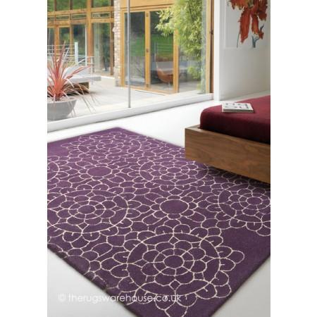 Crochet Purple Rug