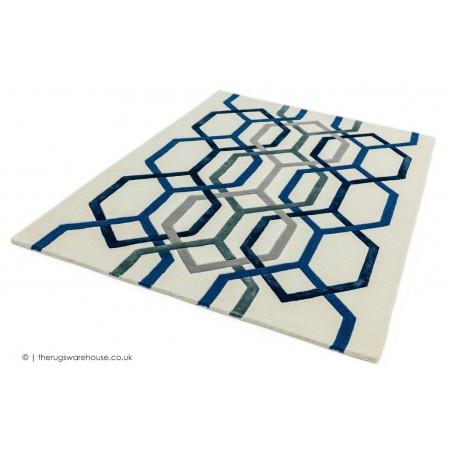 Matrix Hexagon Cream Rug