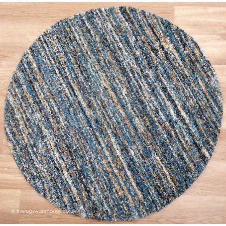 Dunya Blue Circle Rug