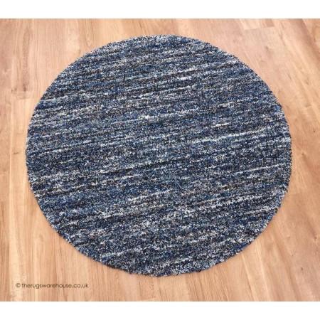 Dunya Blue Mix Circle Rug