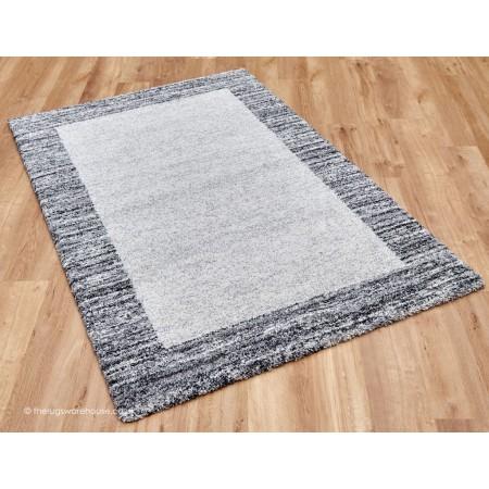 Dunya Border Grey Rug