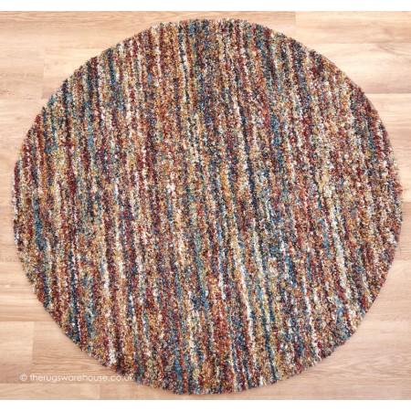 Dunya Grey Circle Rug